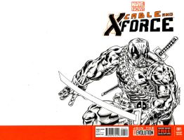Xforce Deadpool sketchcover commission. by ElfSong-Mat