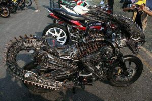 Alien custom motorcycle by papabear7