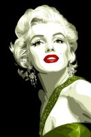 Marilyn Monroe by vosvoskedi
