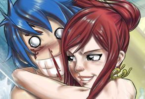 Erza+Jellal - Fairy Tail by sketchlanza