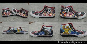 Dragon ball z - shoes by societymisfit