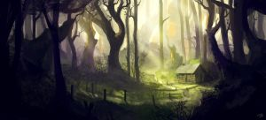 Cabin in the Forest by JulianF