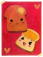 + Kawaii Butter Toasts + by Reemu-chan1984