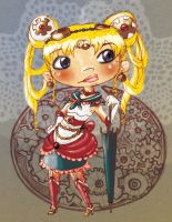 steampunk Sailormoon Chibi by teddybearbones
