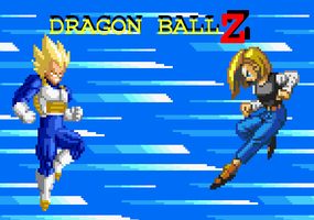 Dragon Ball Z - Vegeta vs. 18 by mitchell00