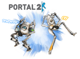 PewDiePie/Cry - Portal 2 by ScribbleNetty
