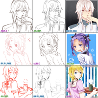 Swith Around Meme with Alice and Aru by ageha1sBf
