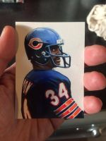 Walter Payton Hand Painted Trading Card by Retrodan16