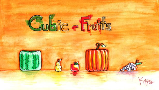 cubic fruits by Katney