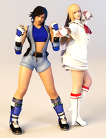 Lili and Asuka 3DS Render 2 by x2gon