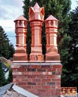 Copper Chimney Pots by DarrianAshoka