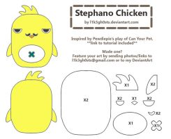 Pattern: Stephano (Chicken) by l1k3gh0sts