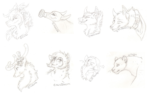 8 free headshot sketch by Rhass