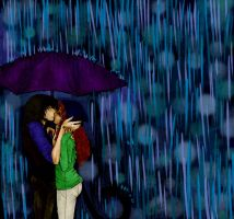 Kiss in the Rain by dracarysis