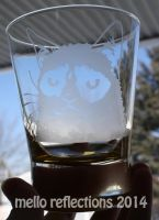 Grumpy Cat Etched Glass by MelloReflections