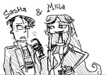 milla and sasha by crazylilfreak