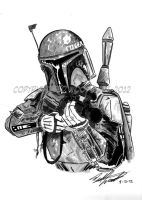 Boba Fett sketch by tedwoodsart