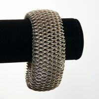 Nickel Silver Dragonscale Bracelet by chef-chad