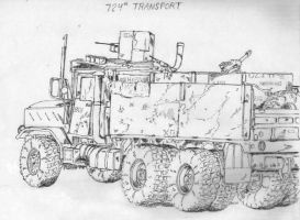 US Military vechicle in Iraq 1 by BROKENHILL