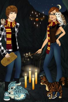 Me and my Hogwarts crush by pikachulover94