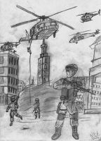 Black Hawk Down the Beggining by nick-metroid