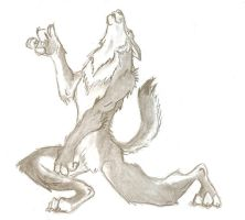 Air Guitar Wolf by dingoyellowdog