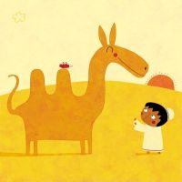 The boy and the camel by nicolas-gouny-art