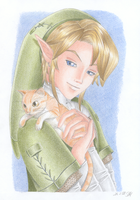 Link and Kitty by Rooro22