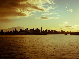Vancouver skyline by Hundebein