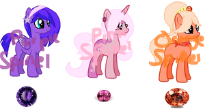 Gem Pony Adopts (Closed- CLOSED SPECIES) by LandofAdoption