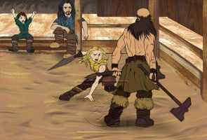Dwalin and Fili - Training Grounds by vixenkiba