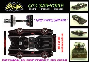 Batman - 60's Batmobile by mikedaws