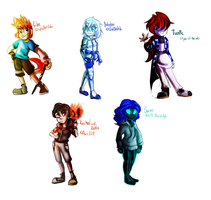 Walking City OCT - Some chibis! by 0SkyKat0
