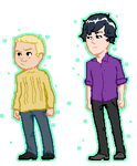 Sherlock and John sprites by Maddiwhoskis