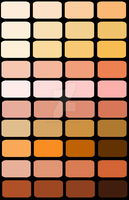 Color palette - Skin Tones by Holly-Nicholls