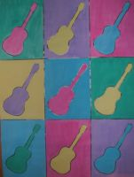 Pop Art Guitars by World-Without-Colour