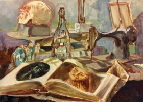 Still Life with Book (2005) by LaNora-84