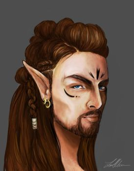 Male wood elf: concept design by LeanneEast