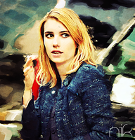 Emma Roberts Painting by nicollearl