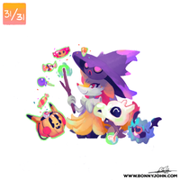10/31 - Cubone, Braixen, Mismagius and Woobat!