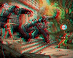 Savage-wolverine 3D relief by Fan2Relief3D