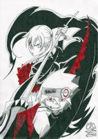 Soul Eater - Maka and Soul by Elrick87