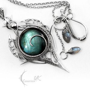LITRHRIL - silver and labradorite by LUNARIEEN