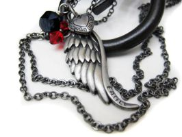 Eagle Wing Locket Necklace by pila12903