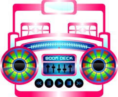Mini BoomBox Fuschia by Viscious-Speed