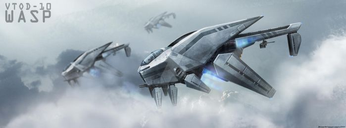 VTOD-10WASP in the air by FrostKnight-IcE