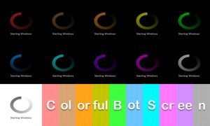 Colorful Boot Screen by Adiim
