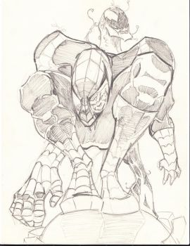 Spider-man and carnage, pencils by razermb