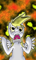 Enraged Derpy by dancinninjac
