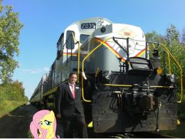 Me, Fluttershy, and the Train by Fluttershy-Lover